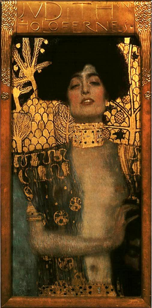 BIBLE PAINTINGS. JUDITH, Gustav Klimt Judith und Holofernes 1901