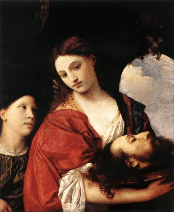 BIBLE PAINTINGS. JUDITH, Titian. Judith with the head of Holofernes 1515