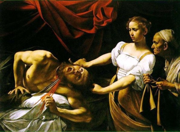 BIBLE PAINTINGS. JUDITH Caravaggio Judith Beheading Holofernes