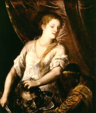 BIBLE PAINTINGS. JUDITH, Titian, Judith with the head of Holofernes