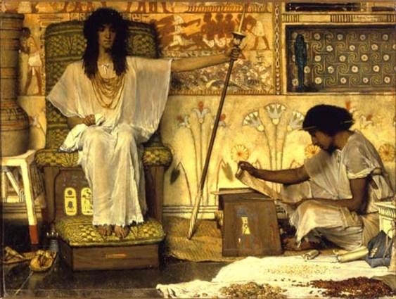 Joseph, overseer of Pharaoh's graneries, Alma Tadema