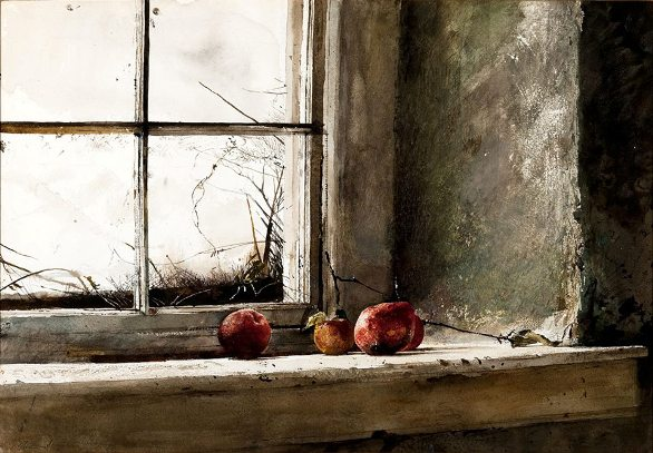 'Frost-bitten' by Andrew Wyeth, 1962 watercolor