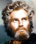 Charlton Heston as Moses in the movie 'The Ten Commandments'