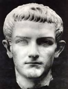 Marble Roman sculpture, thought to be the head of Caligula