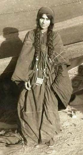 Mary of Nazareth. 19th century photograph of a young Bedouin girl