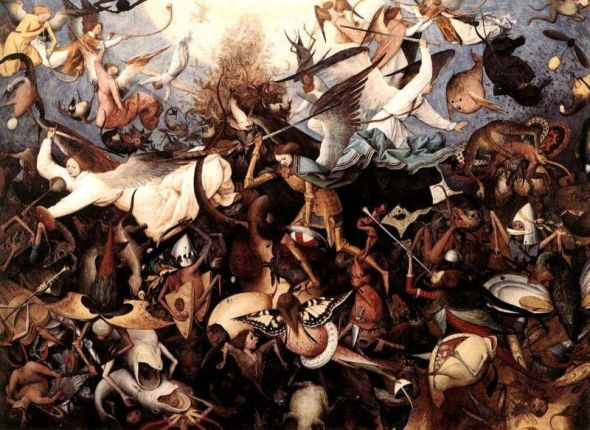 Angel paintings: The Fall of the Rebel Angels, famous painting by Pieter Bruegel the Elder