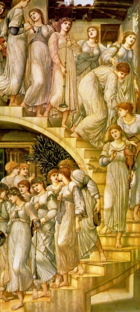 Angel paintings: The Golden Stairs, paintings by Sir Edward Burne-Jones
