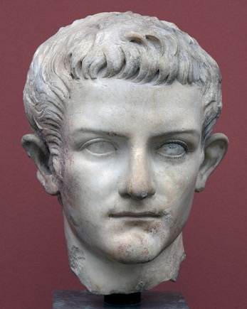 Bust of the emperor Caligula made at about the time of his meeting with Herod Antipas and Herodias
