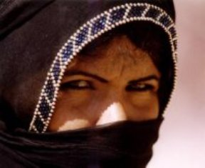 Bible study ideas: Middle Eastern woman with partial face covering