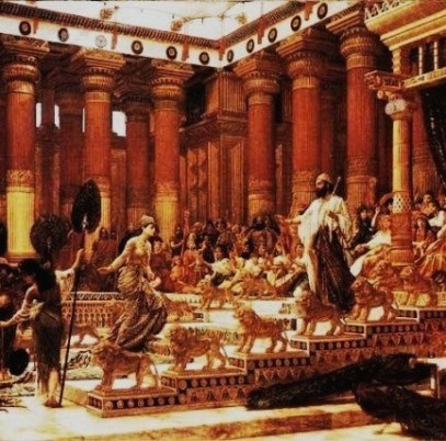 Bible Kings: Solomon receives the Queen of Sheba, Edward John Poynter