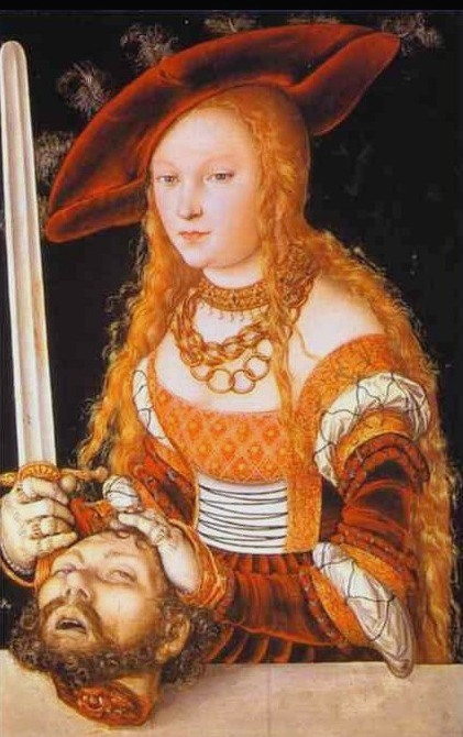 BIBLE PAINTINGS. JUDITH, Lucas Cranach, Judith with the head of Holofernes 1530