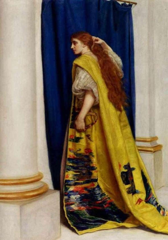 Esther Painting - 'Esther', Sir John Everett Millais, 1865