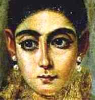 Bible Kings: Face of an ancient Jewish Egyptian woman, from a Fayum coffin portrait
