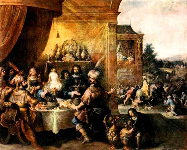 Esther Paintings: 'The Feast of Esther', Frans Francken II, circa 1630