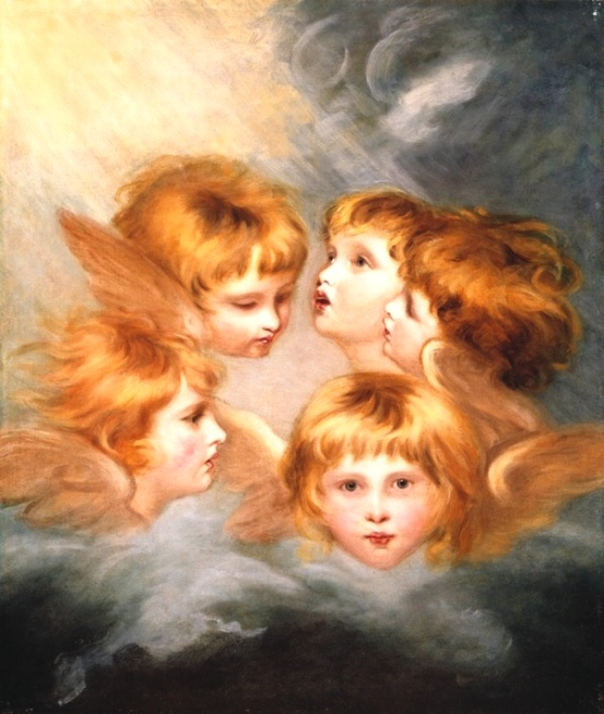 Angel paintings: Heads of Angels by Sir Joshua Reynolds