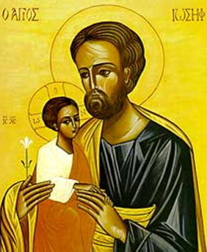 Icon of Joseph and the child Jesus