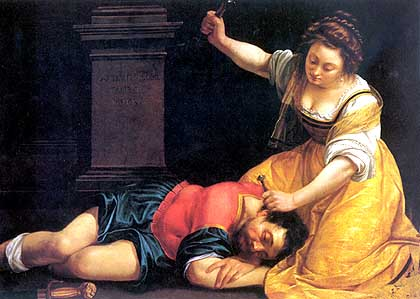 Jael and Sisera', Artemisia Gentileschi