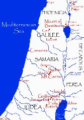 Bible study ideas: Map of Judea, Samaria and Galilee at the time of Jesus