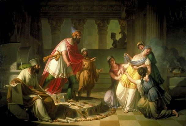 Esther Painting - 'Queen Esther Before Ahasuerus' , Francesco Caucig, 1815