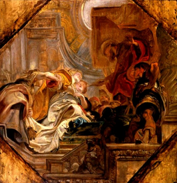 Esther Painting : 'Esther before Ahasuerus', Peter Paul Rubens, 1620