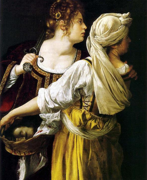 BIBLE PAINTINGS. JUDITH Artemisia Gentileschi Judith and her Maidservant
