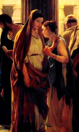 'Ecce Homo' (Behold the Man), Antonio Ciseri, detail of painting showing Pontius Pilate presenting Jesus to the crowd.