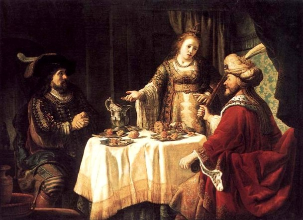 Esther Paintings: 'The Banquet of Esther', Jan Victors, 1640's