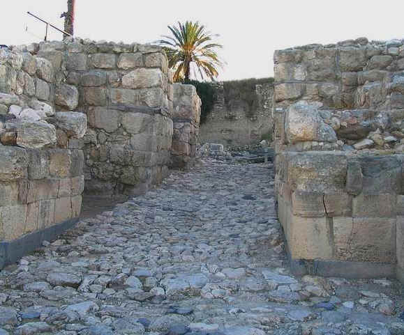 Bible Kings: Josiah. Massive entry gates to a fortified city