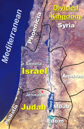 Bible Kings: From Rehoboam until after the Exile in Babylon, the country was divided into Israel in the north, Judah in the south