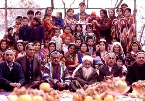 Large Middle Eastern family