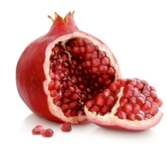 Pomegranate, a symbol of fertility in ancient pagan religions. Apples do not grow naturally in the Middle East.