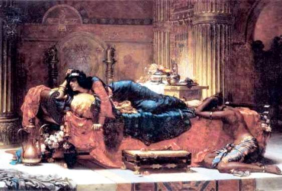 Esther Painting, 'Vashti Deposed' by Ernest Normand, 1890