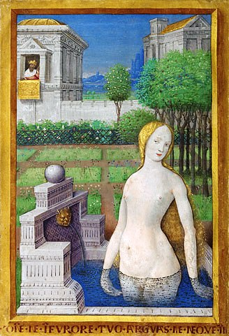 Bathsheba text, painting from the Book of Hours, Louis XII