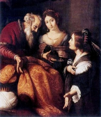 Bathsheba Reminds David of his Promise, Bernardo Strozzi
