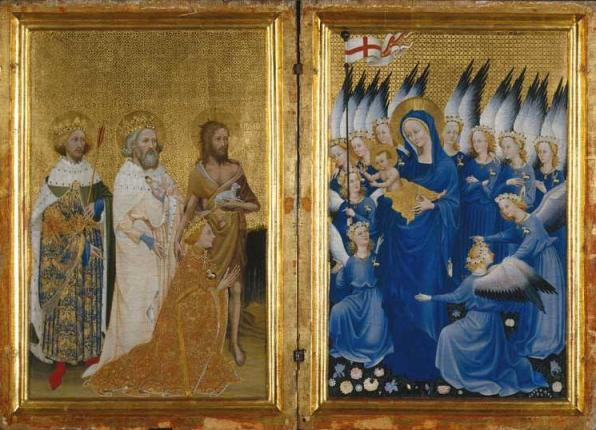 Bible Paintings: The Wilton Diptych, painter unknown, 1395-99