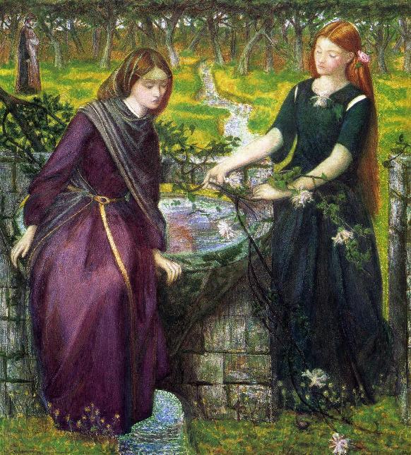 Leah and Rachel, Dante Gabriel Rossetti, 1855