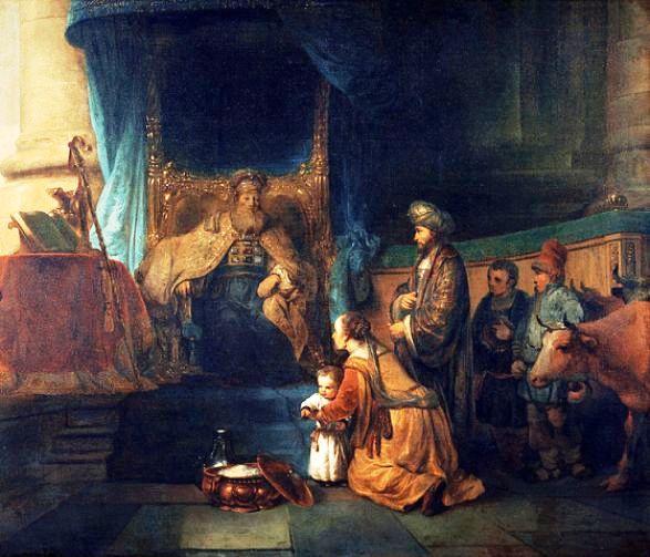 Hannah presents Samuel to Eli, Gerbrand van den Eeckhout