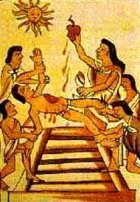 Aztec human sacrifice; most religions have preached vehemently against human sacrifice