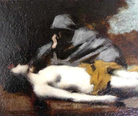The Levite and the dead concubine, Jean Jacques Henner