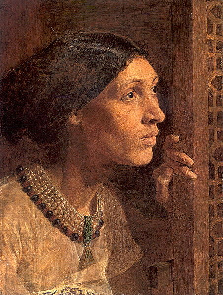 The Mother of Sisera looking out a window, Albert Joseph Moore