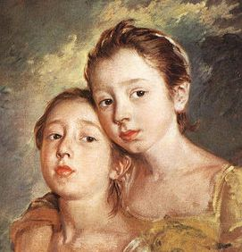 Basemath and Taphath, daughters of Solomon. Gainsborough portrait of two young sisters, members of the English nobility