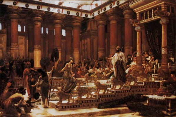 Bible Paintings: The Visit of the Queen of Sheba to King Solomon, Edward Poynter, 1890