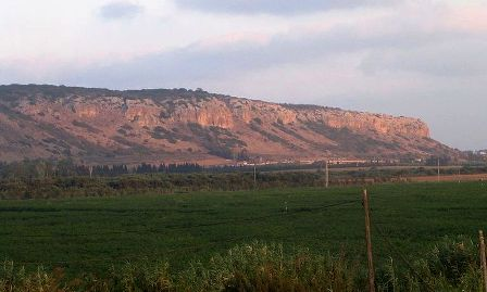 View of Mount Carmel, where the prophets of Baal clashed with Elijah