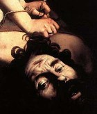 David slays Goliath, painting by Caravaggio