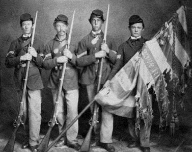 Bible warriors & soldiers: Saul and his sons. Photograph of boy soldiers from the American Civil War