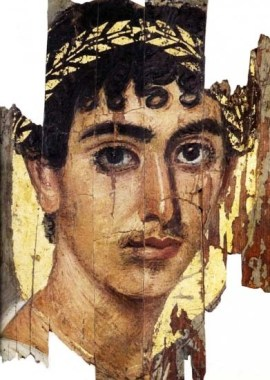 Face of a rich young man, perhaps a prince; from one of the Fayum coffin portraits