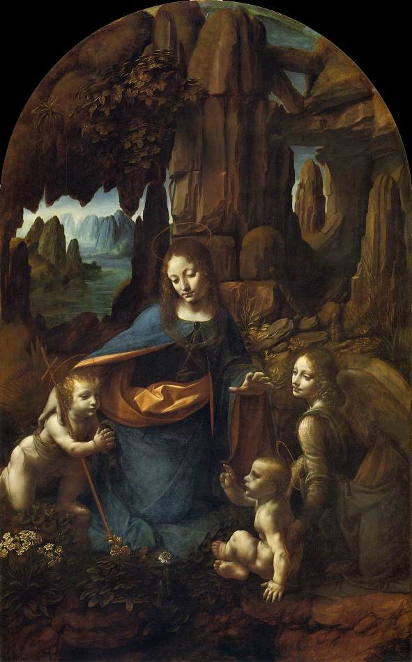 Bible Paintings: The Virgin of the Rocks, Leonardo da Vinci, 1483