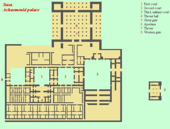 Floor plan of the palace at Susa
