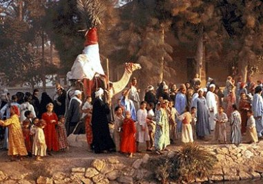 Bible Heroines: Mary of Nazareth. Middle Eastern wedding procession