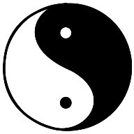 God is rational order. Yin/yang symbol